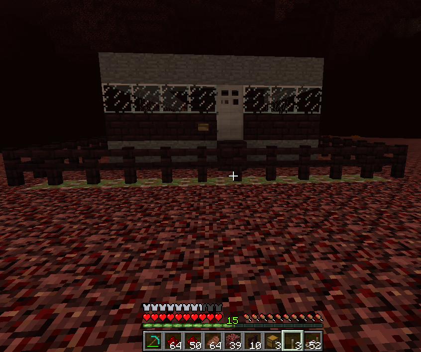 Nether base with defenses and panic room