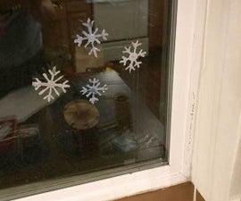 Hot Glue Snowflakes