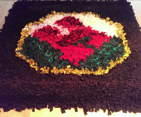Rag Rug From Upcycled Textiles
