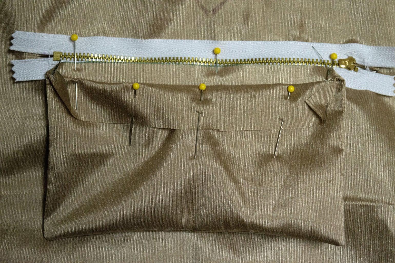 Sew Short Side to Zipper