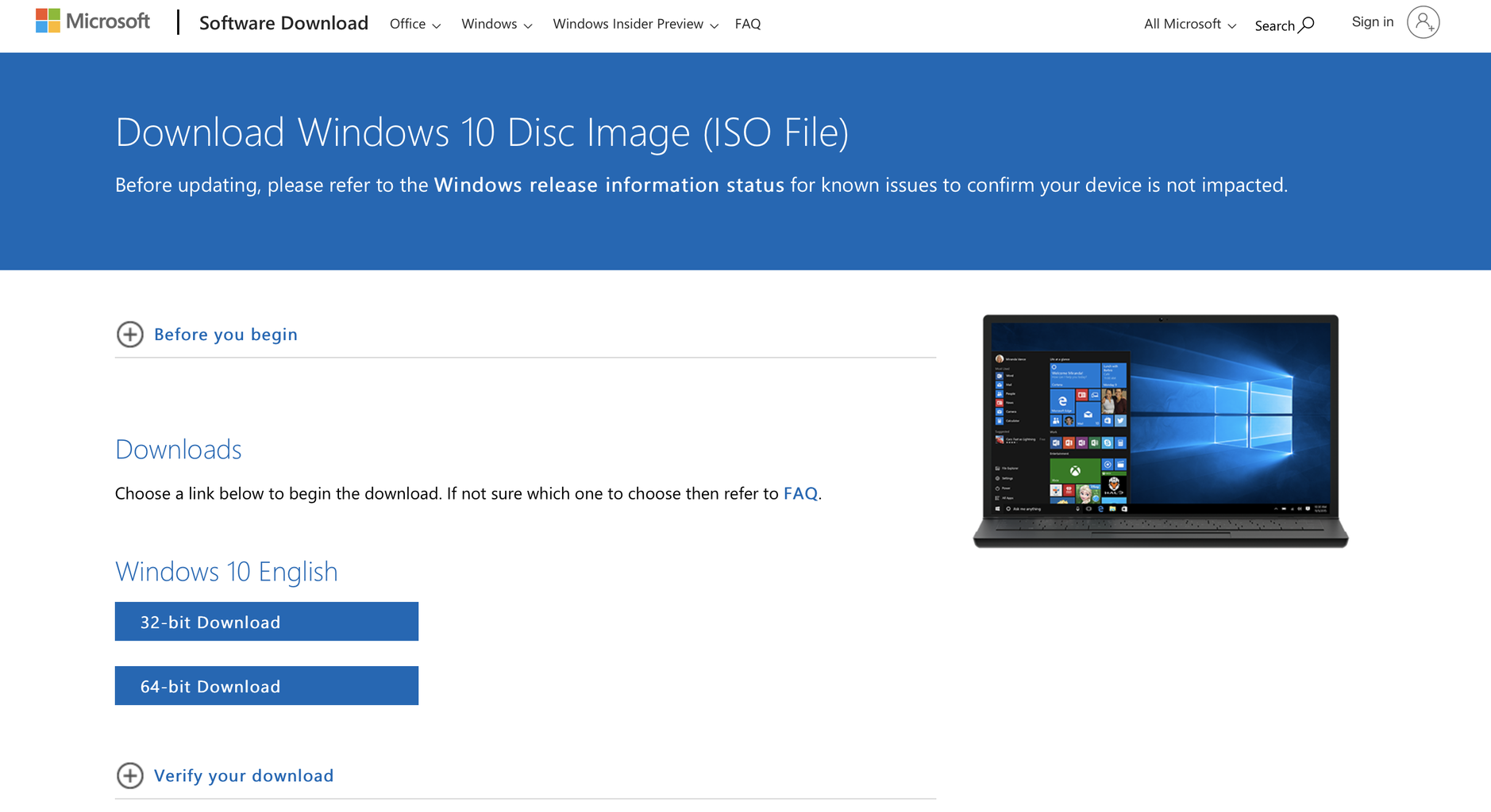 Installing ISO File From Windows Website