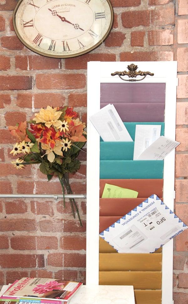 Window Shutter Mail Sorter