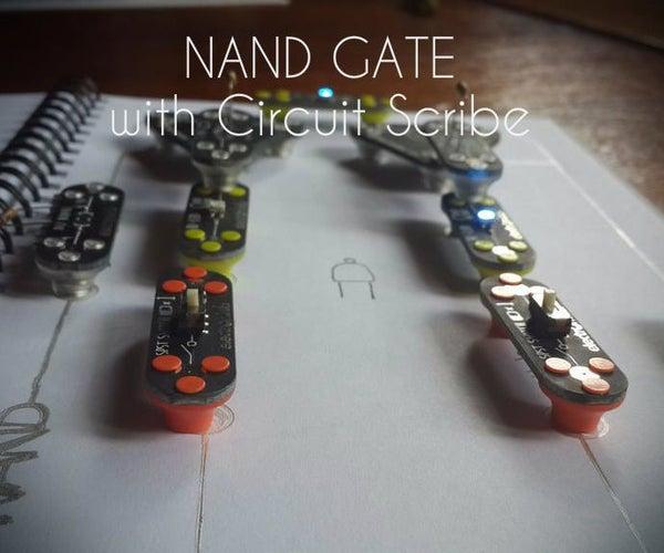 NAND Gate Logic Using Circuit Scribe