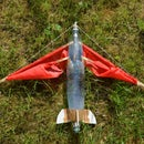 Foldable winged water rocket