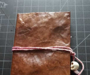 Faux Leather Book Cover From Paper Bags