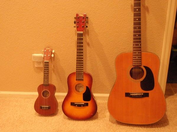 Old Guitar Converted to Baritone Ukulele