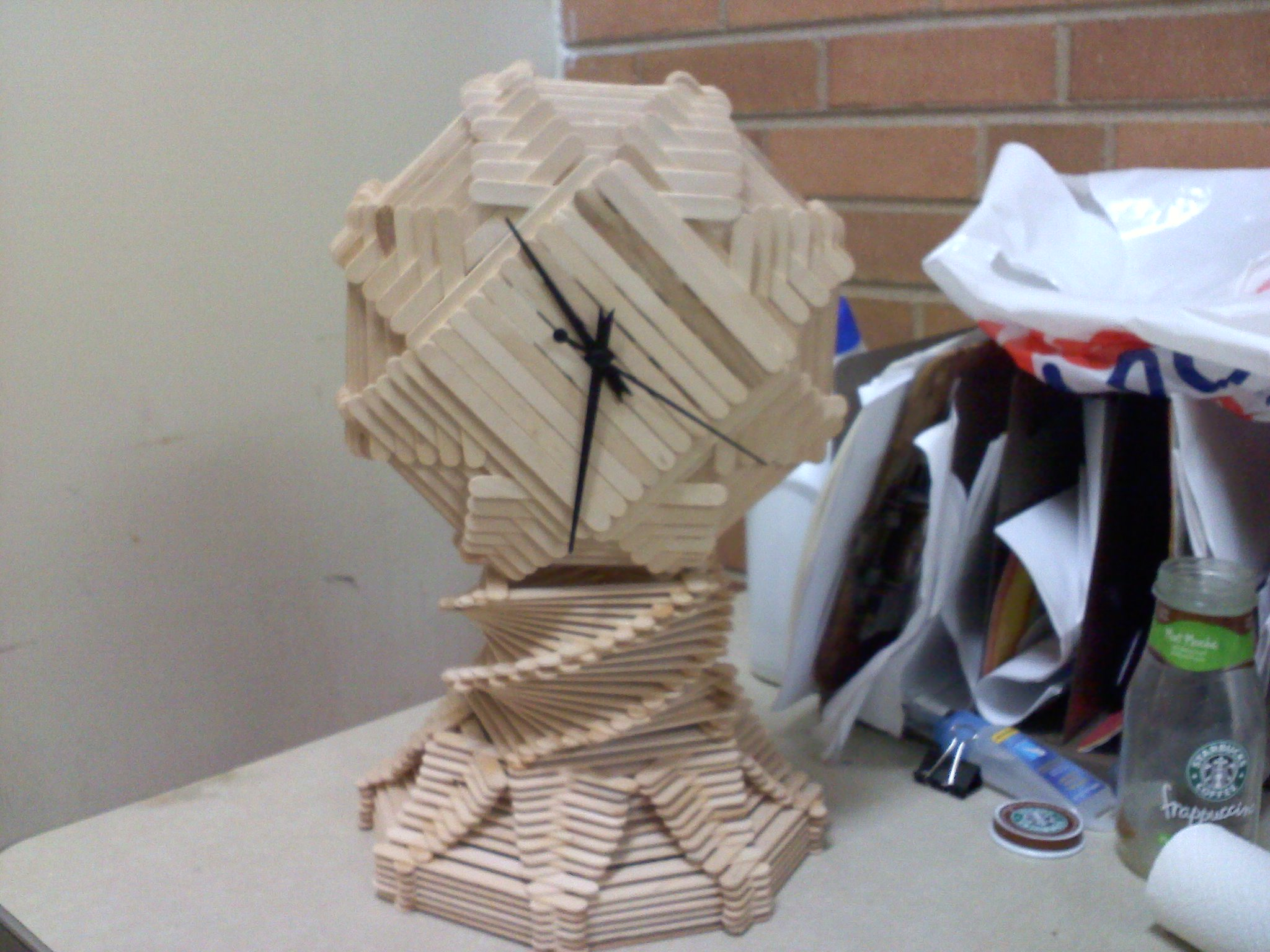 popsicle stick clock