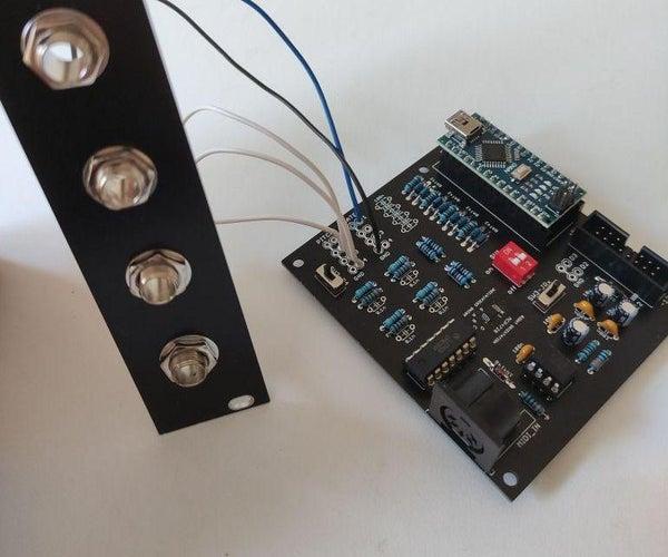 MIDI4CV - Arduino MIDI to 4xCV Interface for VCO Pitch Control