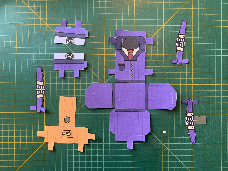 Print + Cut Out the Headless Robot