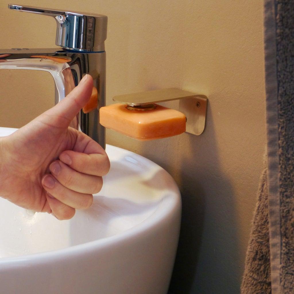 DIY Magnetic Soap Holder