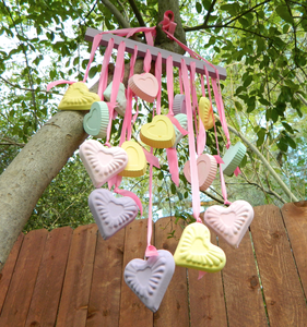 Candy Hearts Wind Chime