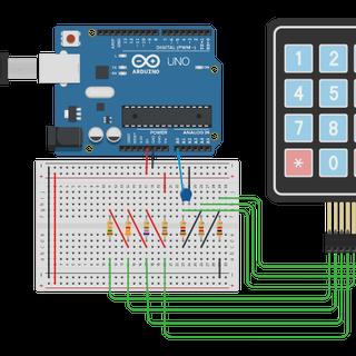 Arduino 3 Wire Matrix Keypad