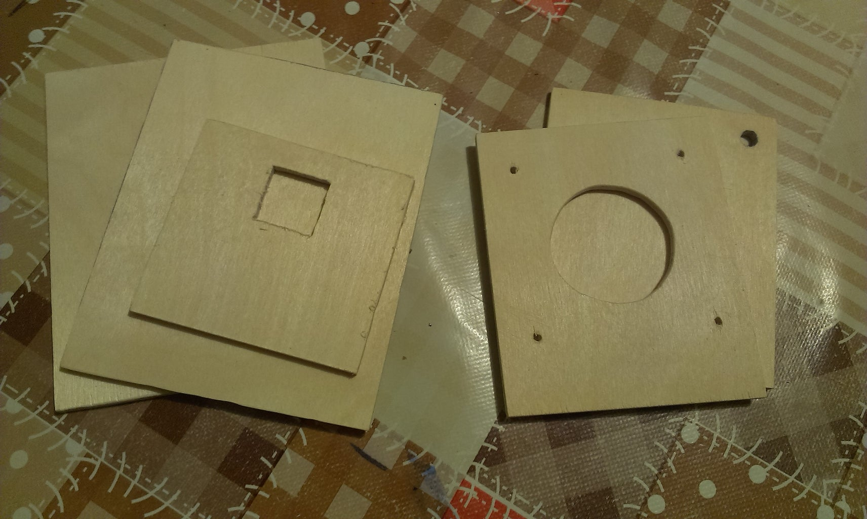 Cut Wooden Parts and Drill Holes