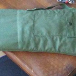 How to Make a Pretty Nice Lined Gun Case From an Old Army Dufflebag and Blanket!