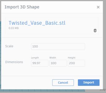 Import 3D Shape