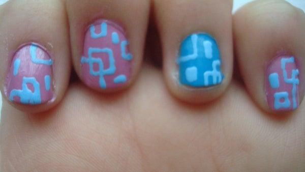 Nail Art - Retro Squares