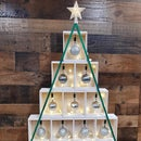 DIY Mini Wood Crate Tabletop Christmas Tree