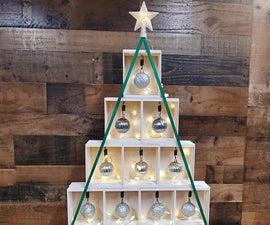 DIY微型木板箱桌面圣诞树