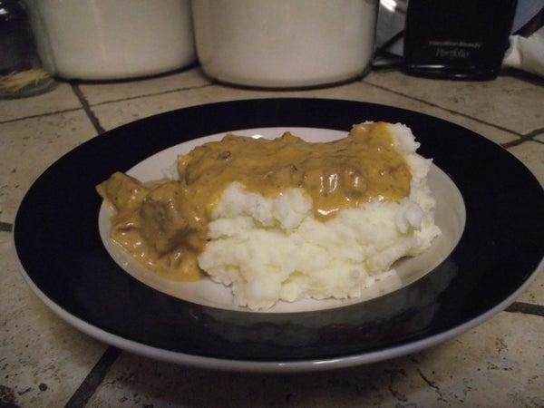 Creamy Beef Crockpot Stroganoff