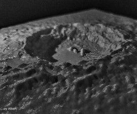 3D Printed Moon Copernicus Crater Desk Décor