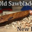 Marcar cuchillo de una hoja de sierra de calar desafilada