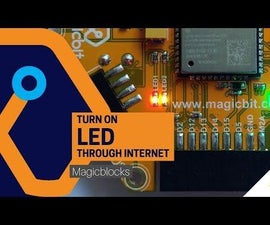 Turn on LED Through Internet [MagicBlocks]