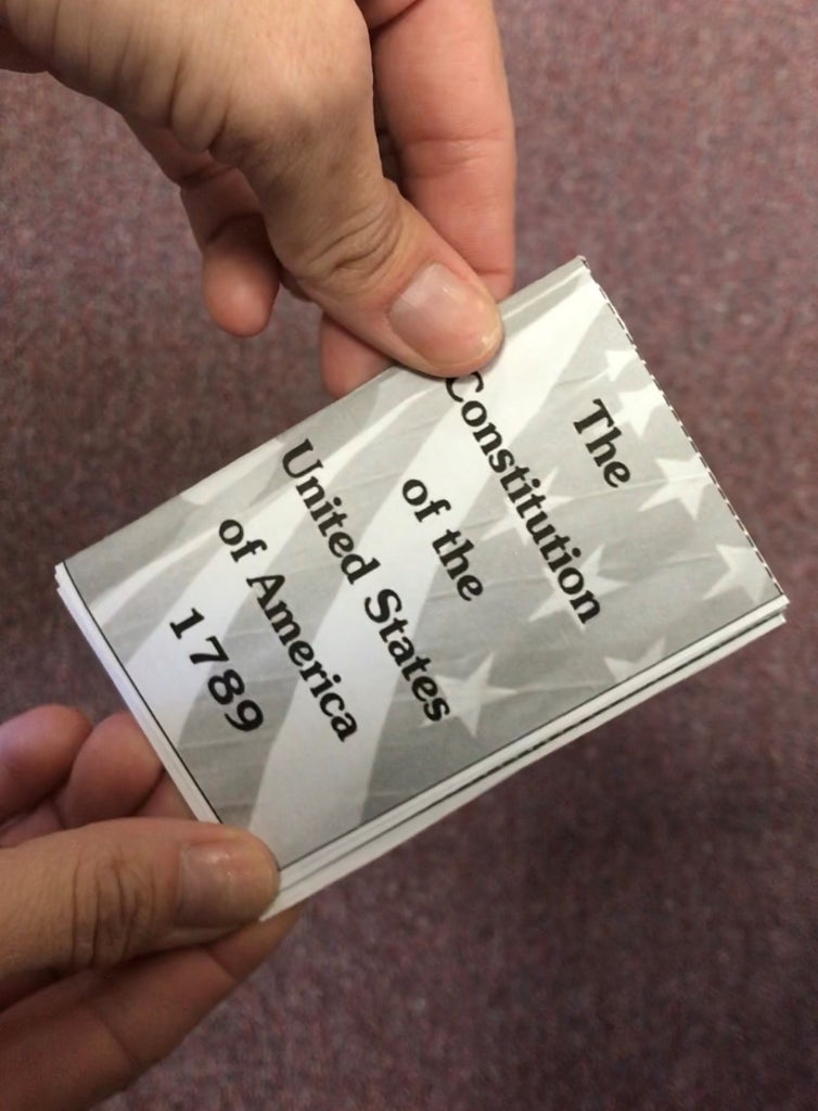TINY Pocket Sized Book of the Constitution of the United States of America