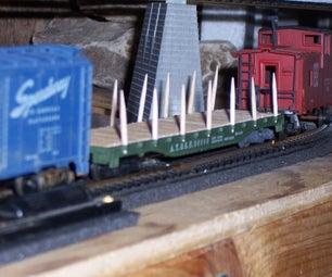 Revitalize an HO Flatcar With...Toothpicks!