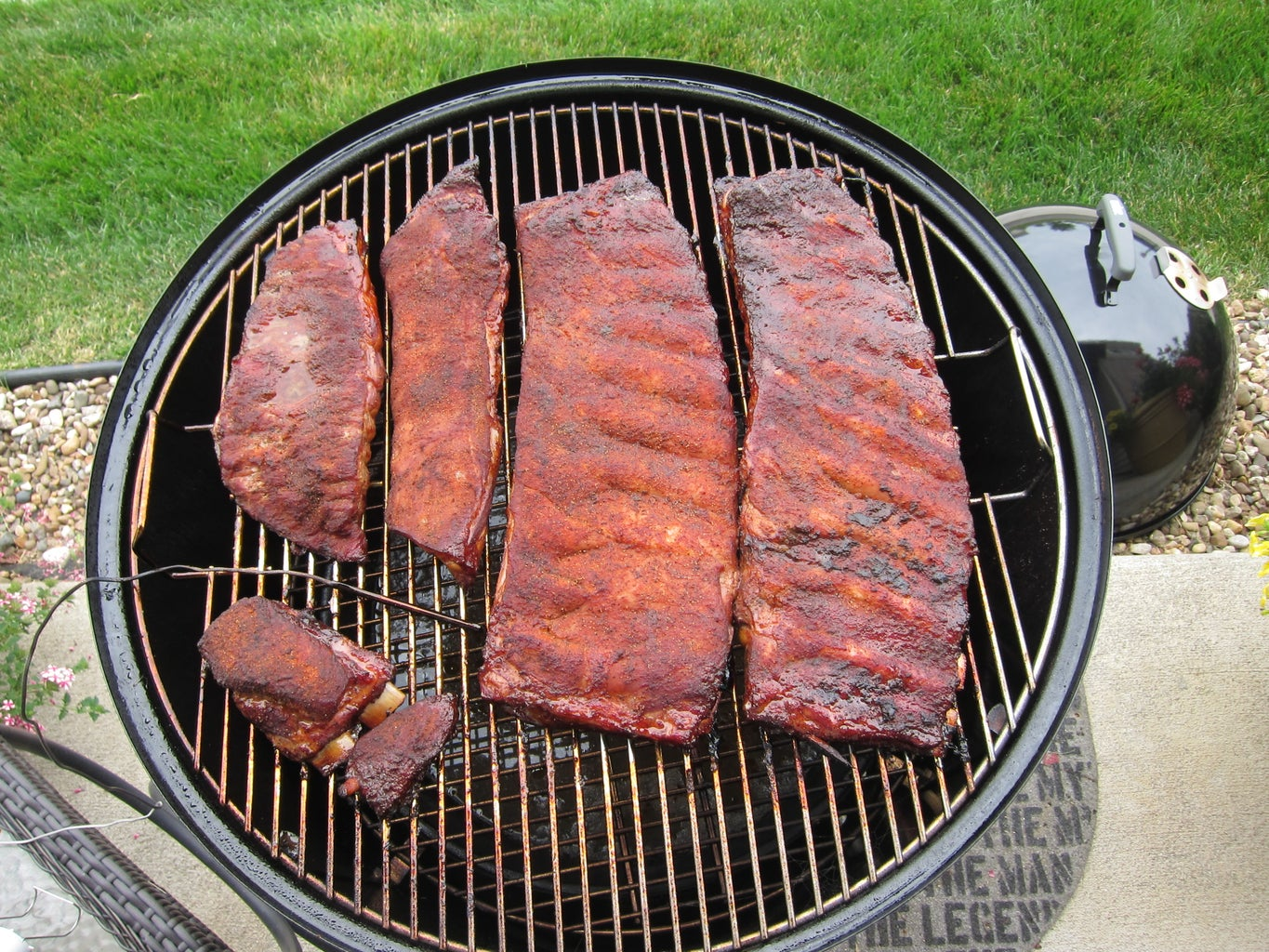 Pull the Ribs Once You Get the Color Where You Want