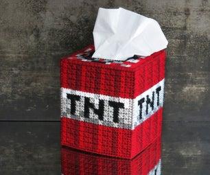 Minecraft TNT Tissue Box Cover
