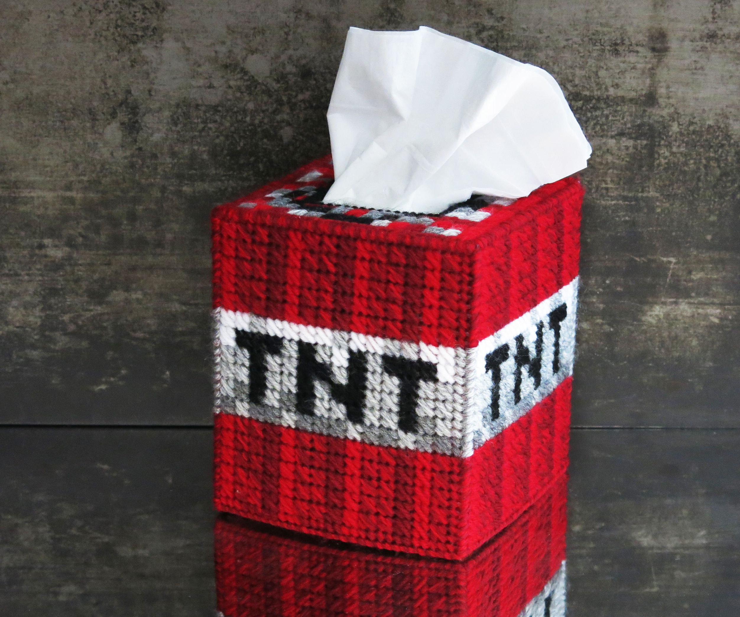Minecraft Tnt Tissue Box Cover 10 Steps With Pictures Instructables