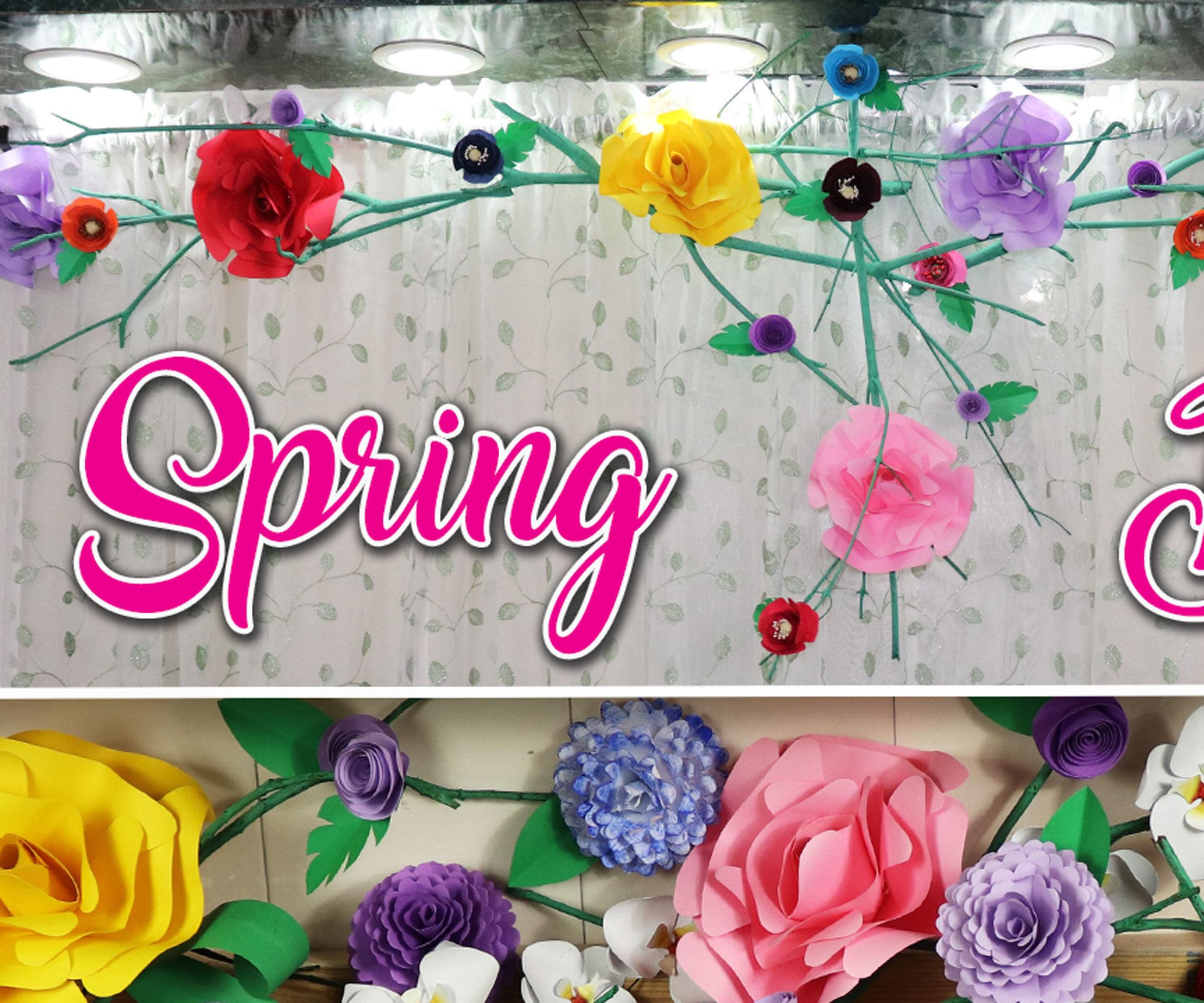 Simple Spring Decor   Paper Flower Decor