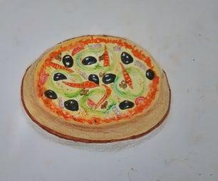 A Pizza Portrait With Pastel Color