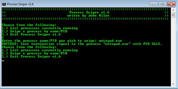 Process Sniper - Batch File