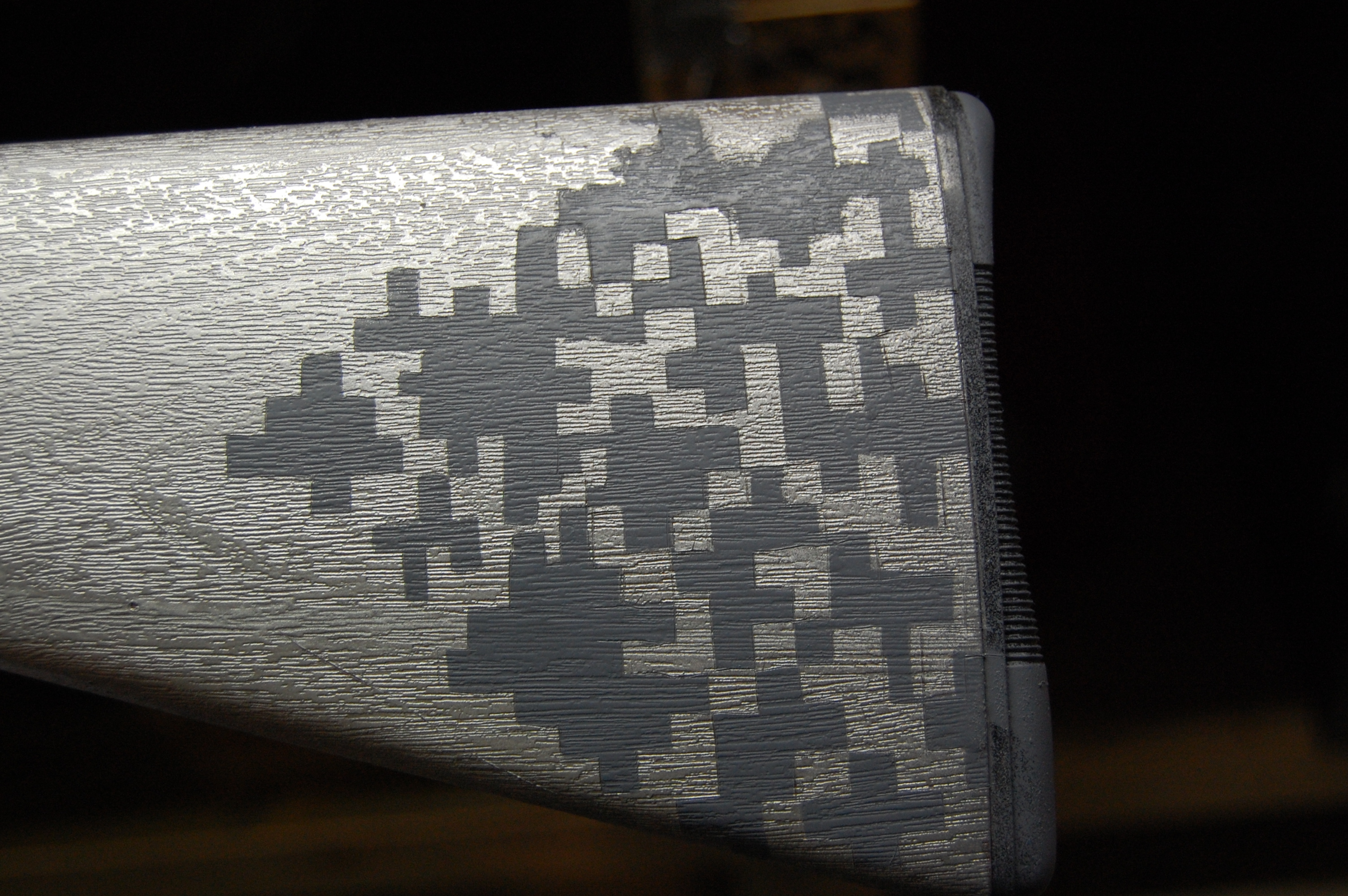 Urban Digital Camo gunstock stencil
