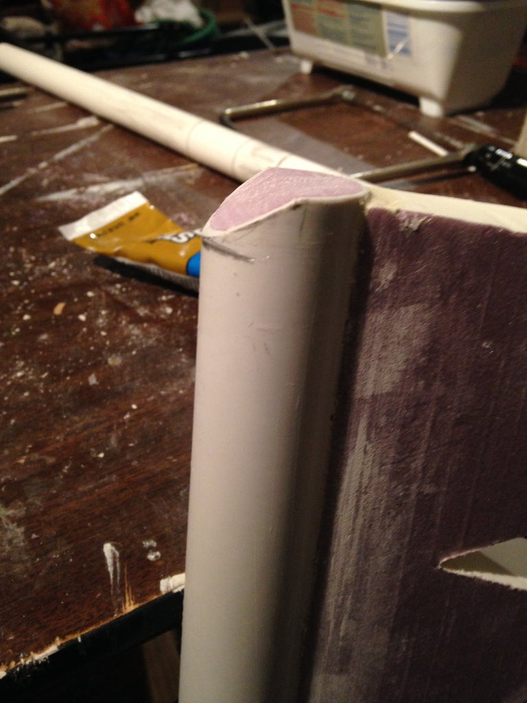 Making the Slant at the End of the Blade.