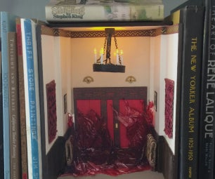 Book Nook Insert Epoxy Blood Elevator From the Shining