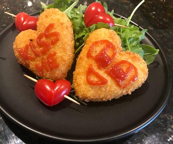 Heart Potato Croquettes