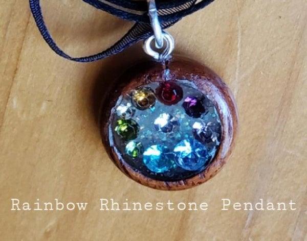 Rainbow Rhinestone Pendant