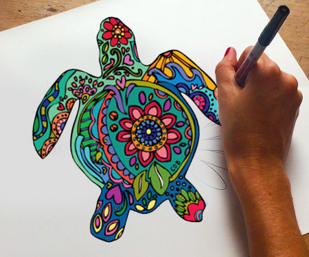 How to Make a Coloring Book Page