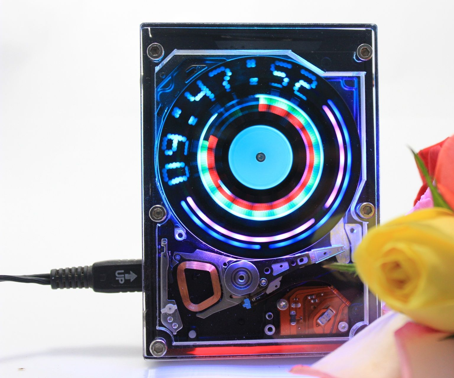 Recycled Hard Drive Clock - FuneLab