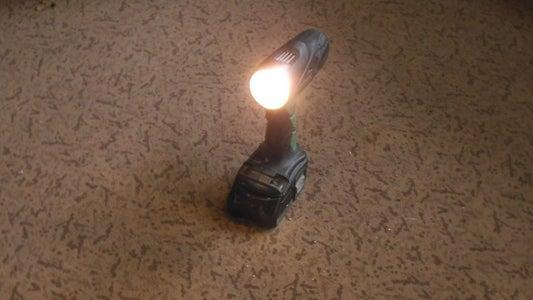 EXTRA BRIGHT LED FLASHLIGHT / TORCH CORDLESS DRILL CONVERSION  (900LM)