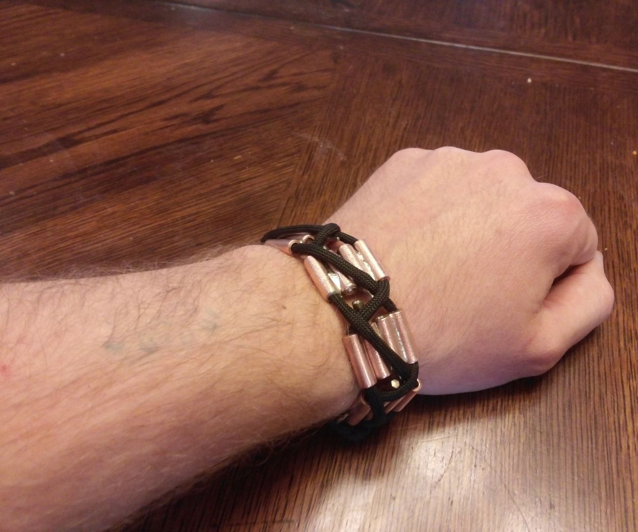 Wrist Multi-Tool of Copper and Paracord