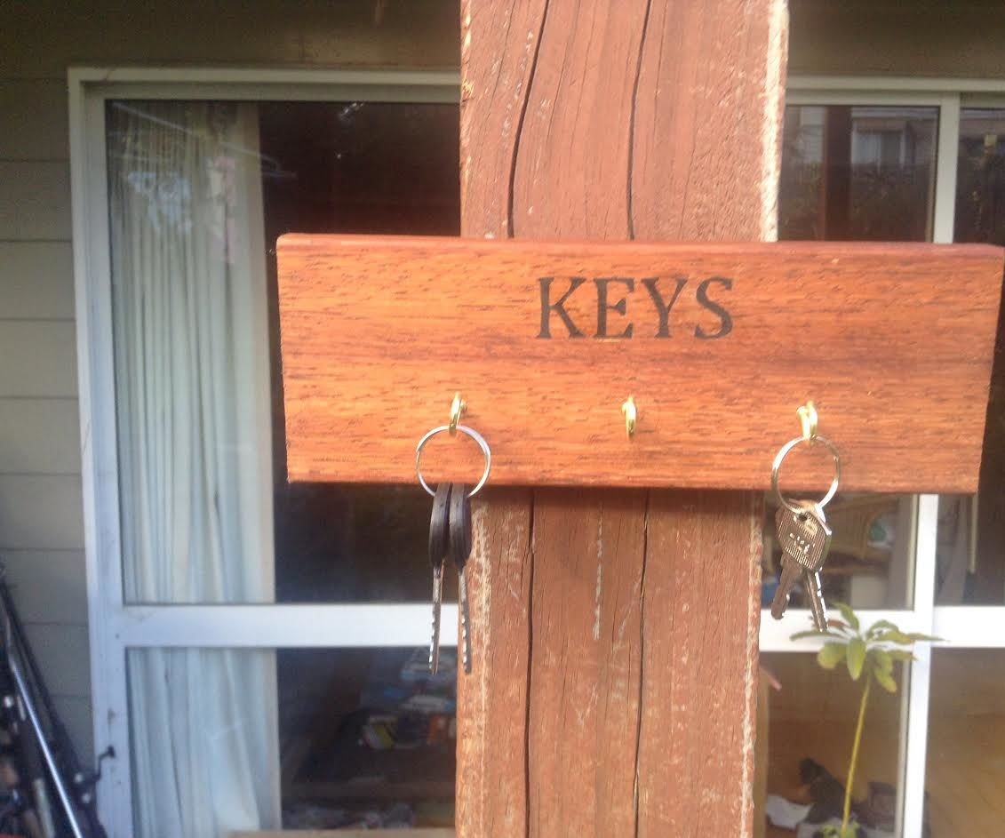 Key Holder From Scrap/fire Wood