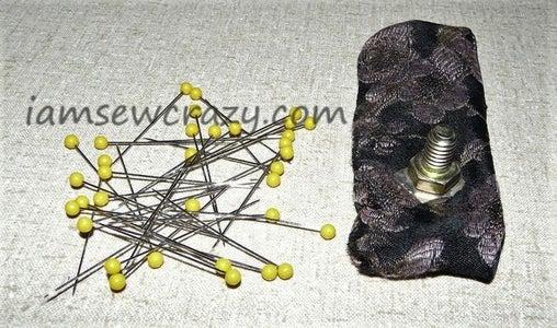 Neodymium Magnet + Bolt = Pincushion