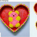 DIY Teddy Bear Wall Hanging | How to Make Woolen Teddy Bear Wall Decor | Room Decor | DIY CraftsLane