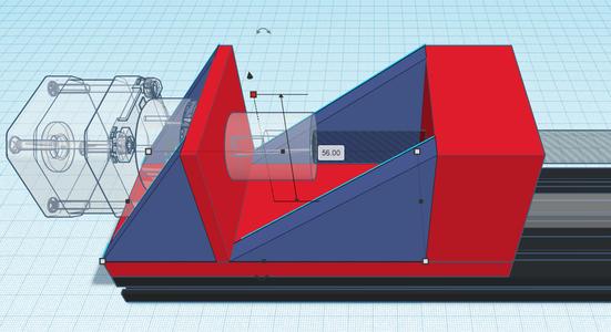 Design Process - Stepper Motor Mount - Reinforcements
