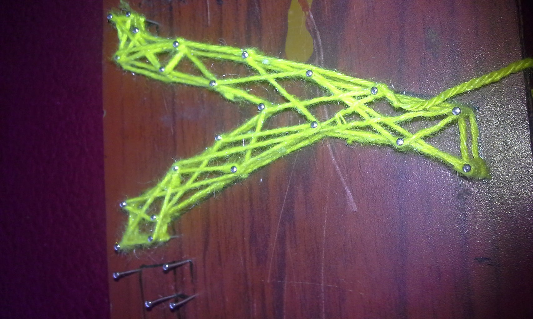 Make Zig Zag Pattern With Thread