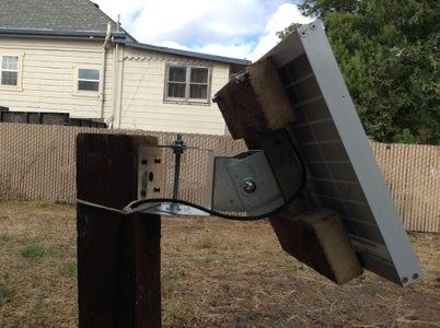 Attach the Solar Panel to the X/Y Bracket