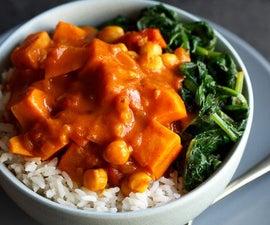 How to Make Sweet Potato Chickpea Curry